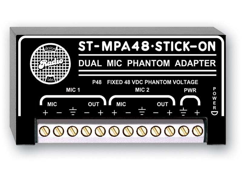 RDL ST-MPA48 デュアル マイクロフォン ファンタム アダプター 48V 【送料無料】