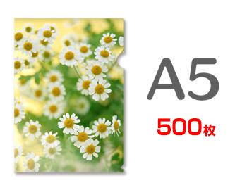 A5クリアファイル印刷500枚(単価80円)