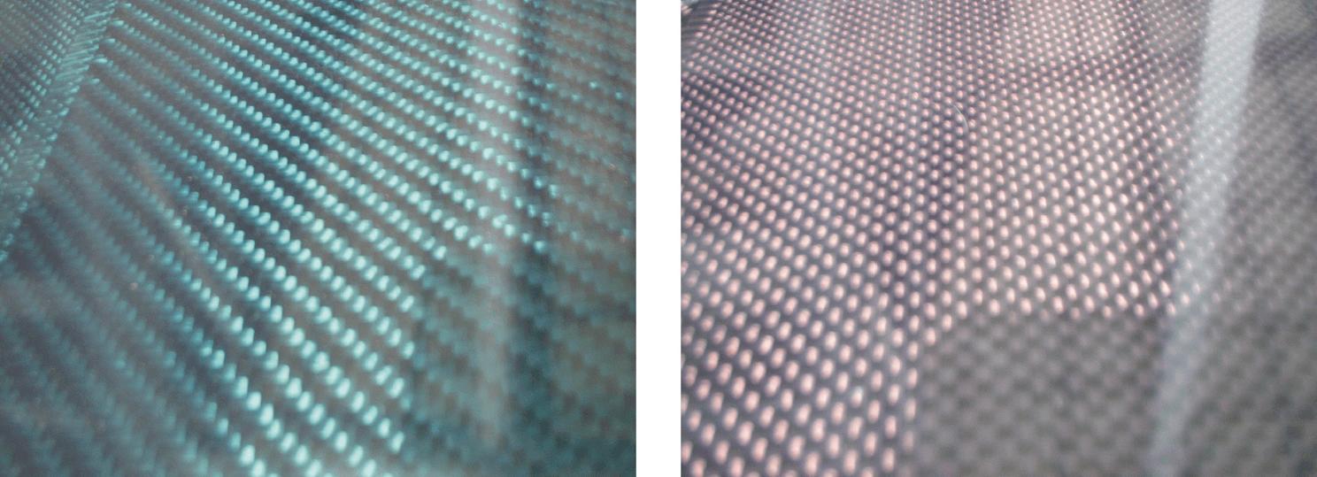 カーボン綾織り板(赤)~*600x600mm*両面・3mm厚~