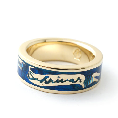 SAHRIVAR Blue Enameled Ring(Brass×18K Plating) UVERworld TAKUYA∞ model
