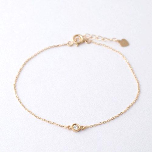 Anthurium K18PG diamond bracelet
