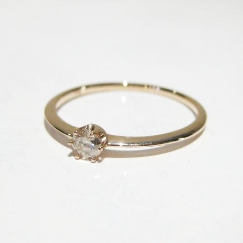 Anthurium K10 Champagne diamond Ring