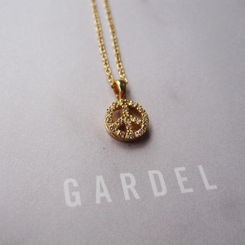GARDEL GLITTER PEACE NECKLACE