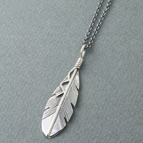 Joe Mace Eagle Feather Necklace small