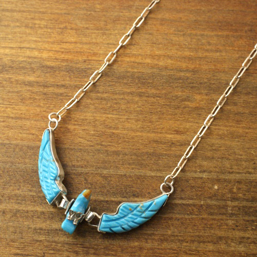 BEN LIVINGSTON Navajo Turquoise Eagle Necklace
