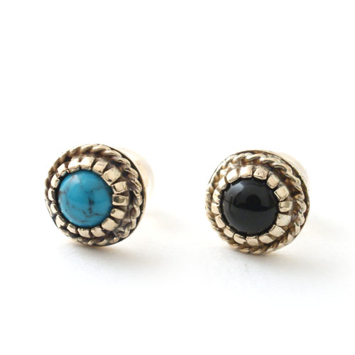 Atease NAVAJO STONE PIERCE GOLD