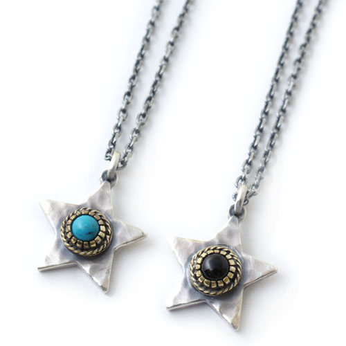 Atease LIMITED EXTRA LARGE TATAKI STAR&SMALL STONE NECKLACE