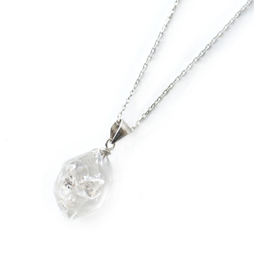 アンスリューム 1点モノ ハーキマーダイヤモンドクオーツネックレス シルバー925 Anthurium NECKLACE お気に入り diamond ONEONLY 大幅値下げランキング Herkimer