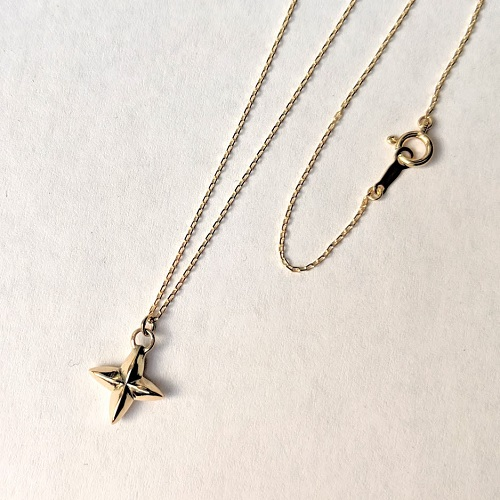mollive GOLD STAR CROSS NECKLACE