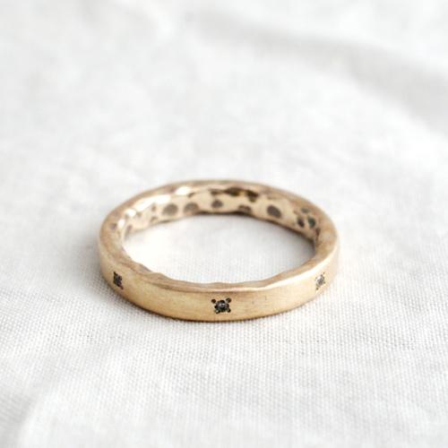 モリーヴ・フラットK10ピーススレンダーリング・結婚指輪にもおすすめ! mollive FLAT 10K SLENDER PEACE RING