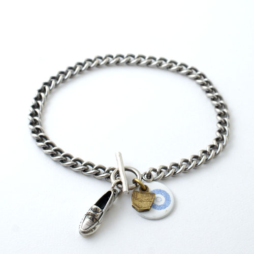On The Sunny Side Of The Street HORSEBIT MOCCASIN CHAIN BRACELET