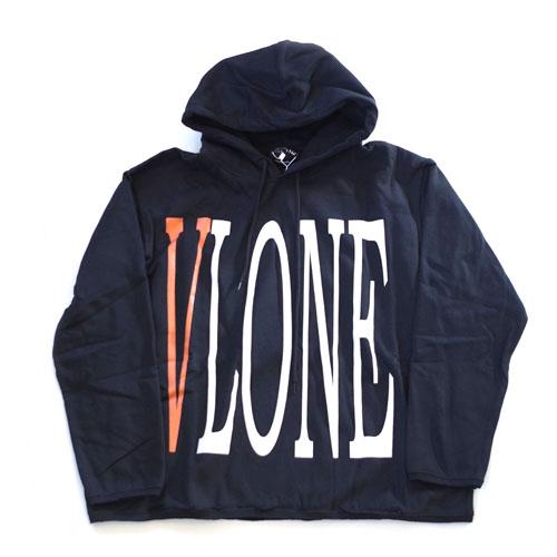 VLONE・LOGO・HOODIE・Black×Orange・Kanye West・flagment design・OFF WHITE