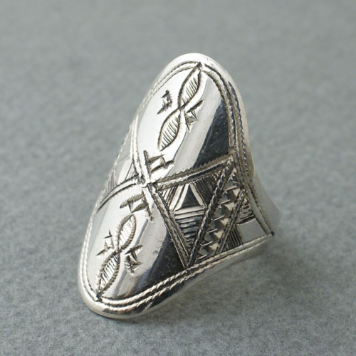 TUAREG SILVER JEWELRY OVER RAPPING RING