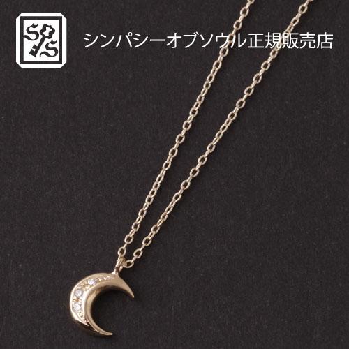 SYMPATHY OF SOUL Little Holy Moon Necklace - K10Yellow Gold w/Diamond 45cm
