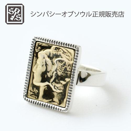 SYMPATHY OF SOUL Liberty head Ring - Silver×Brass