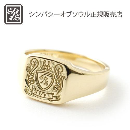 シンパシーオブソウル・スモールシグネチャーリング・ゴールド・LEON(レオン)掲載 SYMPATHY OF SOUL Small Signature Ring - K18