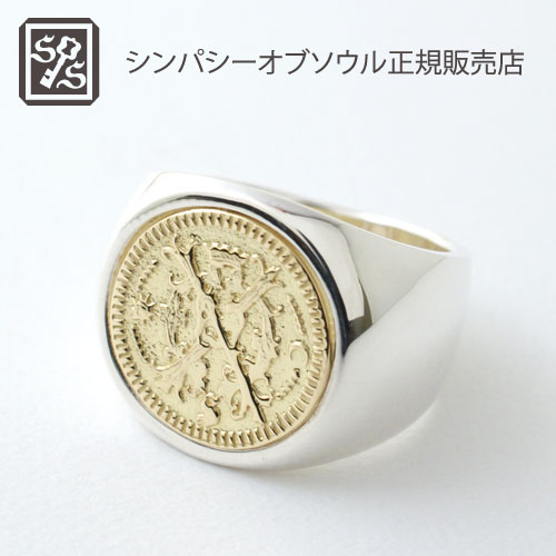 SYMPATHY OF SOULClassic Coin Ring / Bless-Silver×K18Yellow Gold
