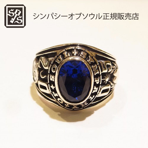 SYMPATHY OF SOUL RH History Ring Synthetic Sapphire