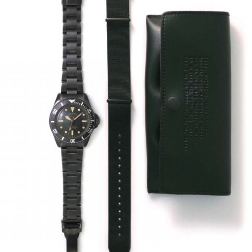 VAGUE WATCH BLK SUB (STAINLESS STEEL BELT)