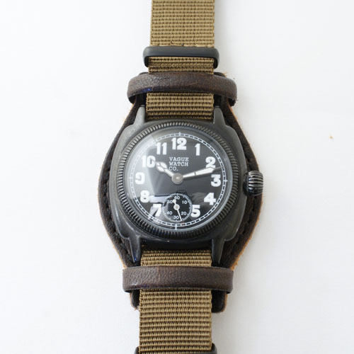 【中古】VAGUE WATCH Cushion BK Men's(中古)+新品ベルト