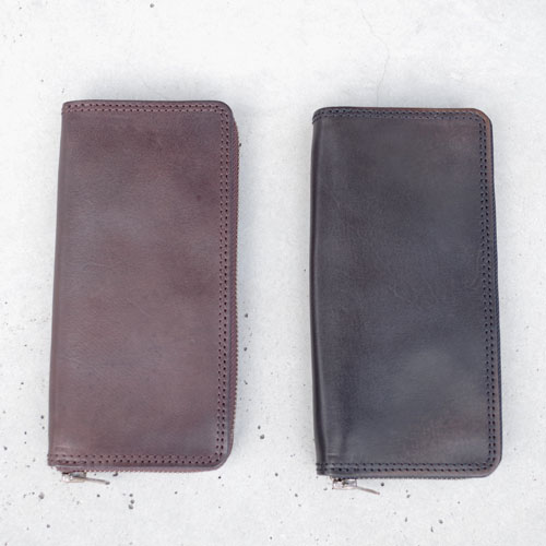 vasco LEATHER TRAVEL ROUND ZIP LONG WALLET