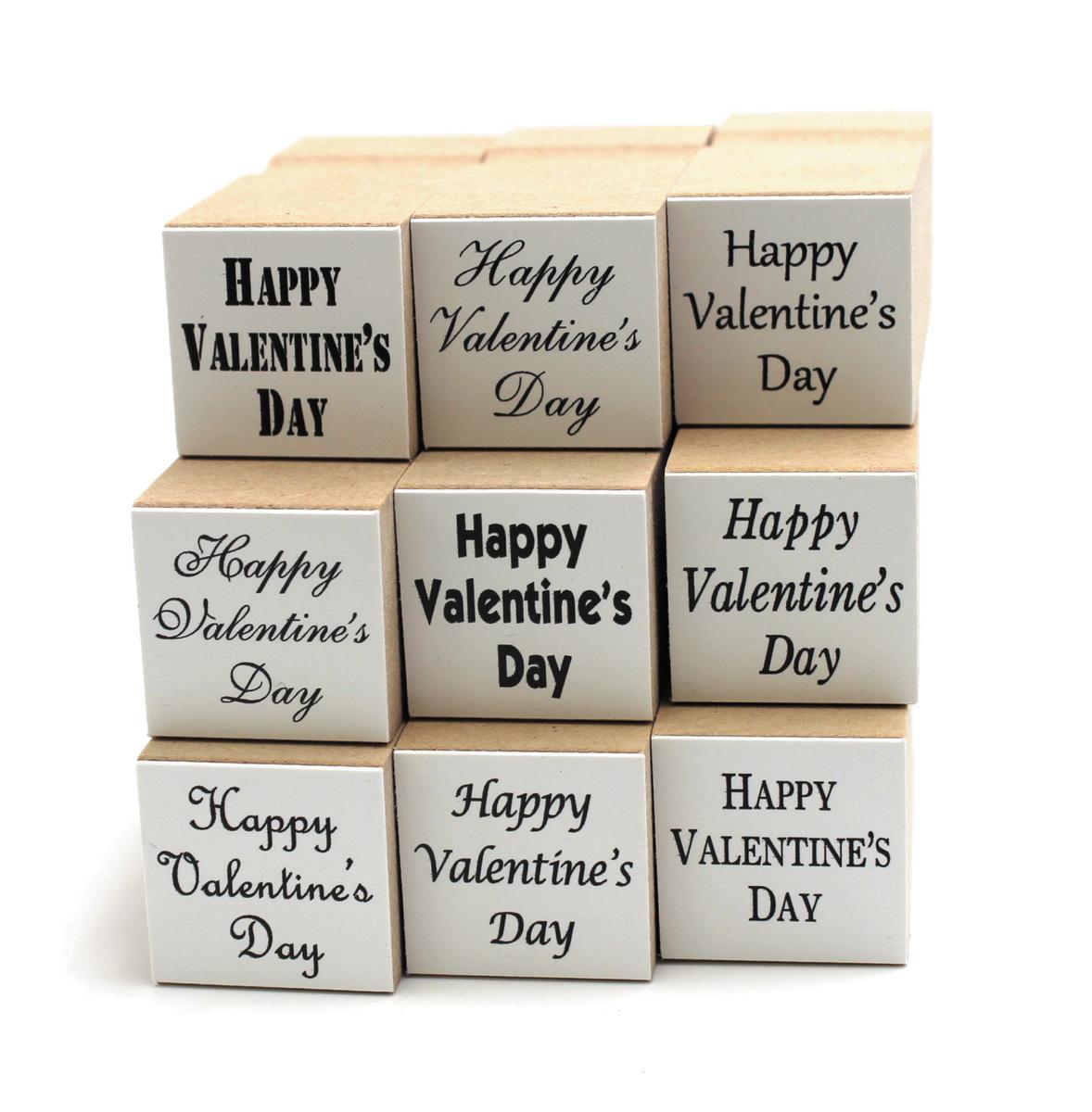 期間限定今なら送料無料 手作りカードに Gift 贈り物などに バレンタインスタンプ 超特価 Happy はんこ ハンコ Day Valentine`s hanko