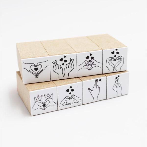 スーパーセール 手作りカードに Gift 贈り物などに 蔵 色々なバリエーション hanko ハンコ はんこ ハートサインスタンプ単品