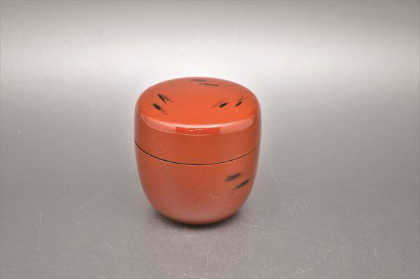 返品交換不可 保障 棗 なつめ natsume tea container 中棗 樹脂製 根来塗 化粧箱