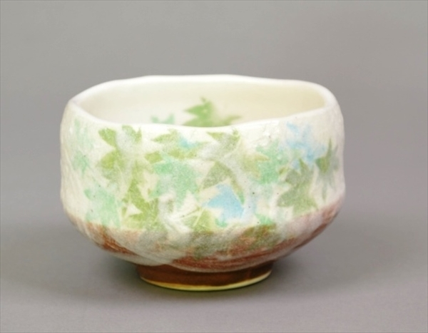 豊窯(化粧箱) 青楓 小茶碗 Matcha Teabowl