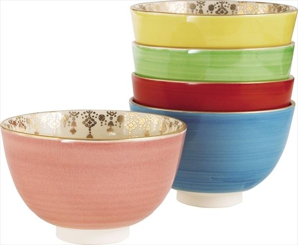 色変 瓔珞紋 数茶碗 5客
