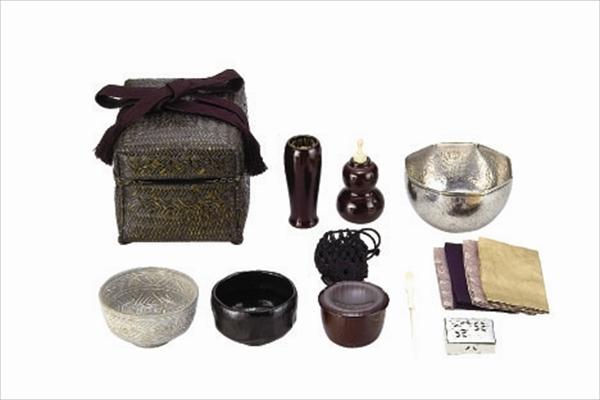 御所籠セット(八角建水・茶杓・仕服・相生袋付)