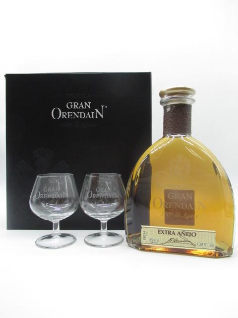 【あす楽】グラン オレンダイン エクストラアネホ グラス2個付き 箱付き 40度 750ml