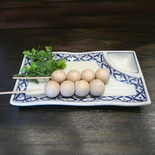 パイナップル柄陶器 長方形型の平皿 薬味付きです 毎日がバーゲンセール 長方形型 薬味付き 23cm 小鉢タイ料理アジアン料理タイ雑貨 新入荷 流行 青白陶器青白食器パイナップル柄陶器