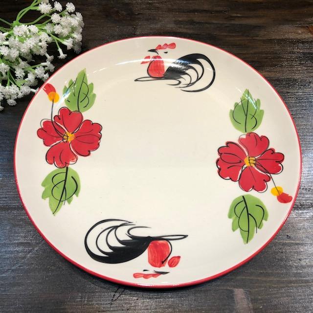 タイの食堂や屋台でお馴染み 時間指定不可 ※ラッピング ※ にわとり柄 の丸皿 大 約24.5cmです 平皿にわとり陶器にわとり食器にわとり柄タイ料理アジアン料理タイ雑貨 にわとり食器 平皿 約24.5cm