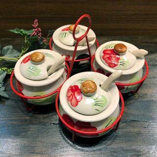 タイの食堂や屋台でお馴染み にわとり柄 の調味料入れです 薬味入れにわとり陶器にわとり食器にわとり柄タイ料理アジアン料理タイ雑貨 調味料入れ 実物 舗 にわとり食器