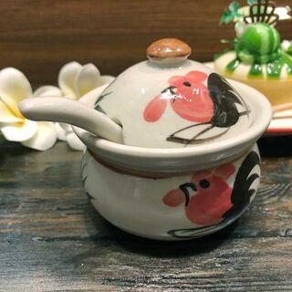 タイの食堂や屋台でお馴染み おトク にわとり柄 のシュガーポットです シュガーポット 砂糖入れにわとり陶器にわとり食器にわとり柄タイ料理アジアン料理タイ雑貨 にわとり食器 ラッピング無料