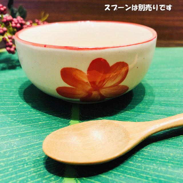 タイの食堂や屋台でお馴染み NEW ARRIVAL にわとり柄 の食器 レッド花柄 8.5cmです 8.5cmにわとり陶器にわとり食器にわとり柄タイ料理アジアン料理タイ雑貨 にわとり食器 小鉢 マート 小皿