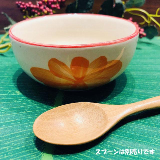 タイの食堂や屋台でお馴染み にわとり柄 スピード対応 全国送料無料 の食器 オレンジ花柄 8.5cmです にわとり食器 小鉢 小皿 アウトレット☆送料無料 8.5cmにわとり陶器にわとり食器にわとり柄タイ料理アジアン料理タイ雑貨