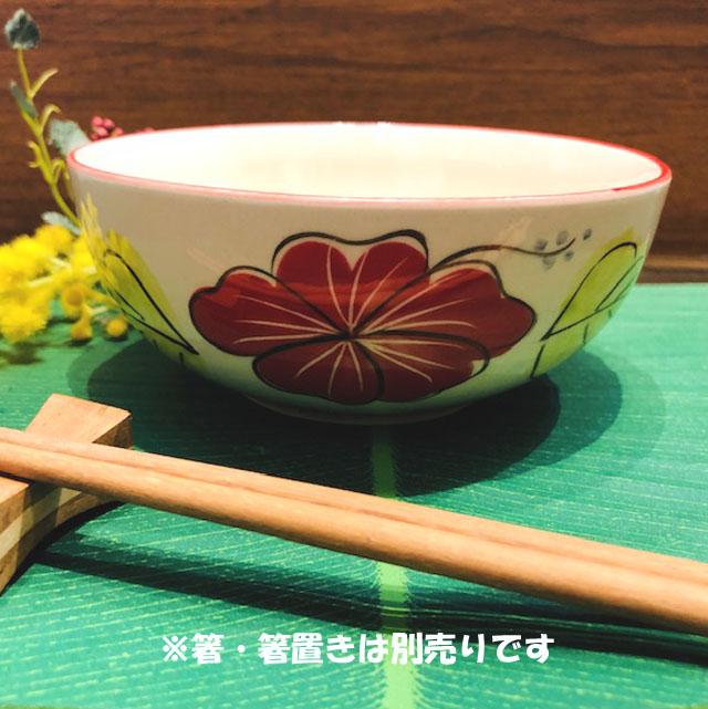 タイの食堂や屋台でお馴染み にわとり柄 の小どんぶり ハイビスカス柄 赤 14.5cmです 豪華な 未使用 にわとり食器 14.5cm 小どんぶり 小どんぶりにわとり陶器にわとり食器にわとり柄タイ料理アジアン料理タイ雑貨 小鉢