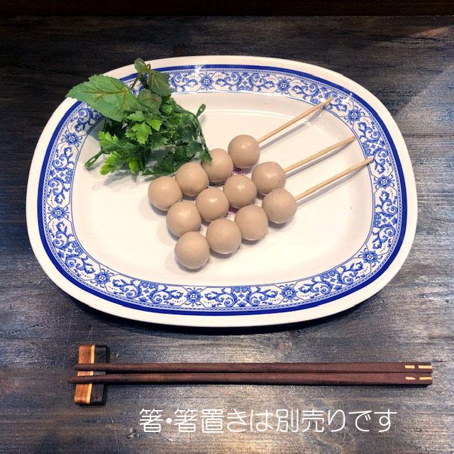 タイでお馴染みメラミン食器31cmです メラミン食器 在庫限り JADA オーバル31cm プラスティック平皿 四角皿青白食器タイ製タイ料理アジアン料理タイ雑貨 休日 中サイズ P912-12
