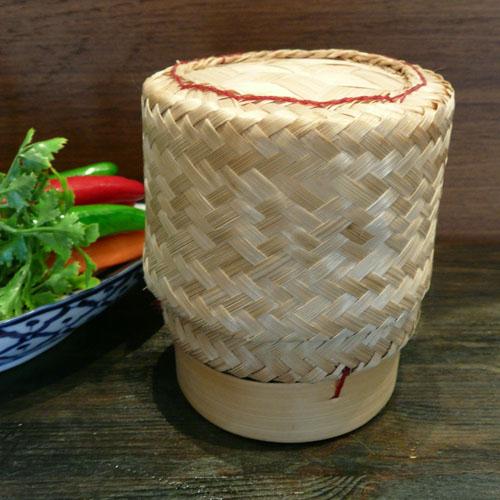 タイのもち米を入れる容器です 大 デポー カティップ タイのもち米入れ 正規店 イーサン料理 竹細工 タイ料理 タイ東北 ガイヤーン 容器