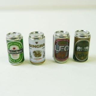 ミニチュアのビール4種類セットです ミニチュア ビール4種類セット ビール4種類セットミニチュア雑貨タイ雑貨アジアン雑貨 特価品コーナー☆ 超激安特価