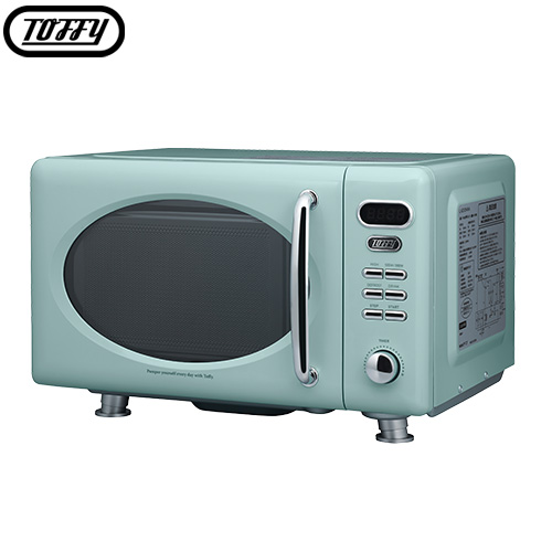 アッシュホワイト/ペールアクア ELE000112 電子レンジ フラットテーブル Toffy