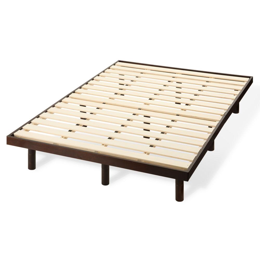 すのこベッド ダブル 約 140×200cm 木製 ナチュラル/ホワイト/ダークブラウン BDL037076