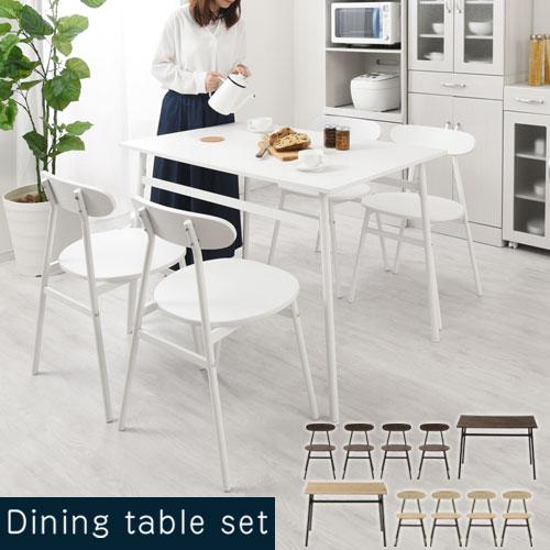 リビングダイニングテーブル 4人掛け チェアー 4脚 木製 ヴィンテージ風 ウォールナット/オーク TBL500380