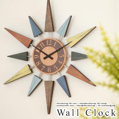 【送料無料】壁掛け時計 掛け時計 アンティーク デザイン スイープ 時計 静音 ムーブメント 掛時計 木製 壁掛時計 雑貨 クォーツ ギフト プレゼント デザイナーズ おしゃれ