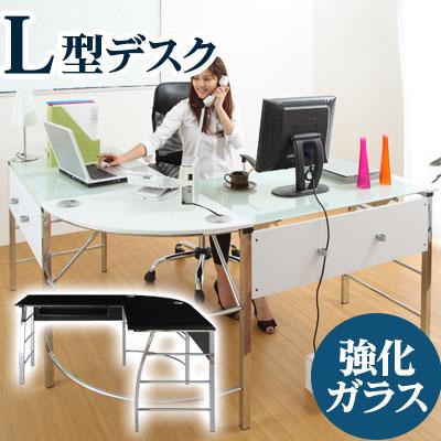 【クーポンで2,000円引き】 PCデスク ガラスデスク キーボードスライダー オフィスデスク パソコンデスク 机 つくえ オフィス おしゃれ