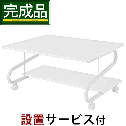 パソコンテーブル 天板 鏡面 キャスター付き 全2色 DKONKP581370