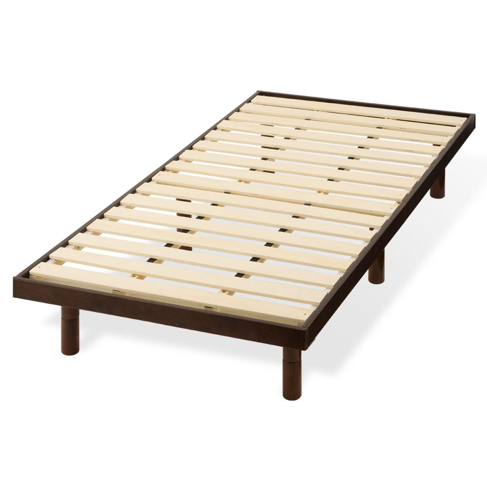 すのこベッド シングル 約 98×200cm 木製 ナチュラル/ホワイト/ダークブラウン BSNUB0110