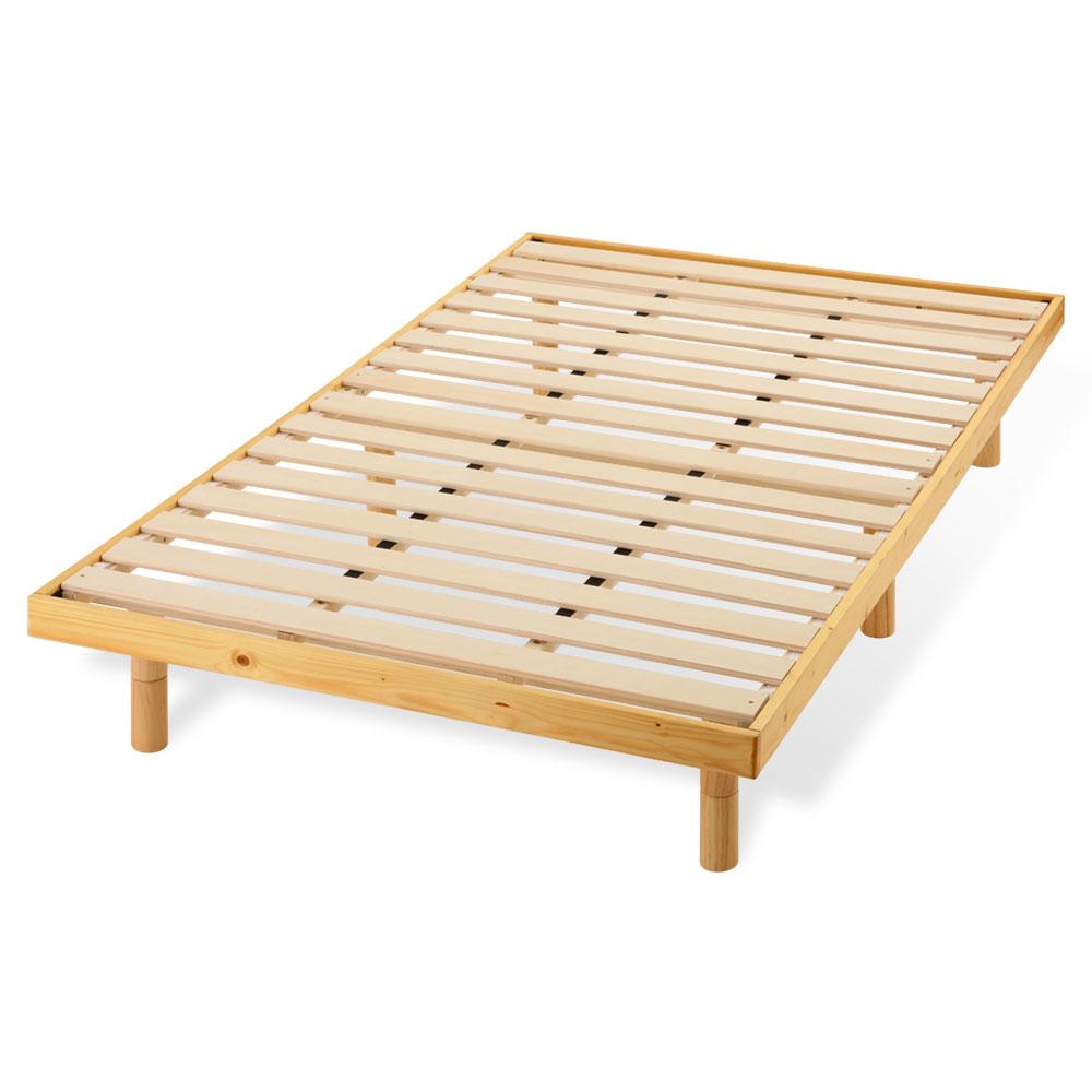 すのこベッド セミダブル 約 120×200cm 木製 ナチュラル/ホワイト/ダークブラウン BSD020202